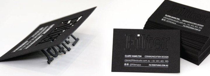 The Beauty of Black and White Business Cards