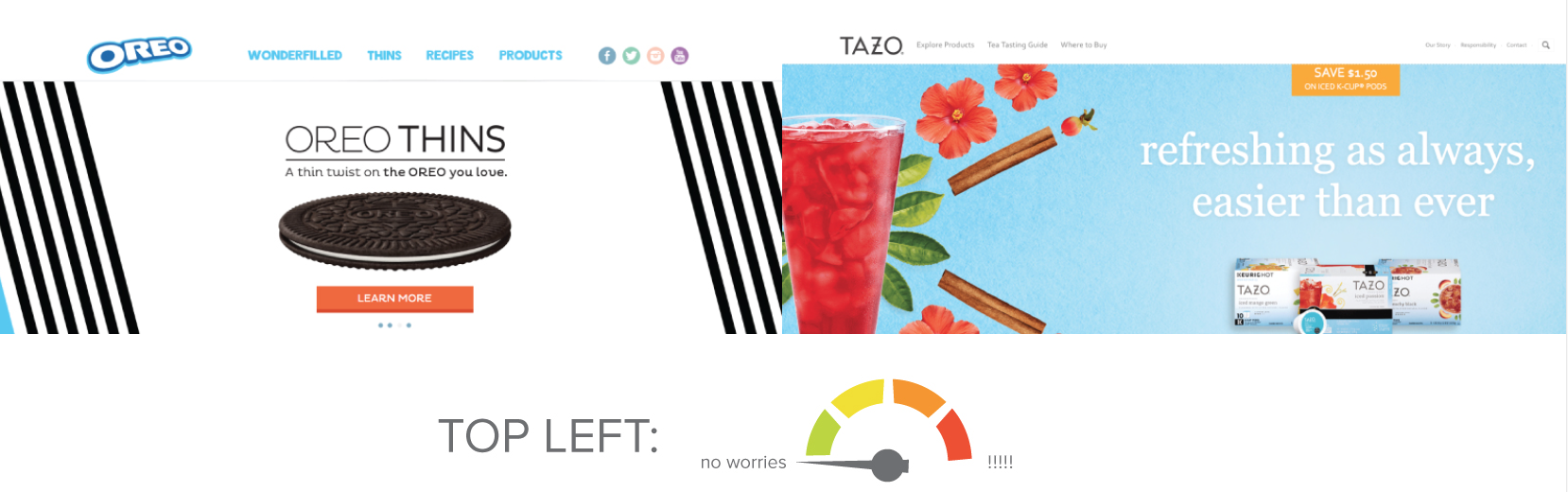 Logo Placement Oreo Tazo