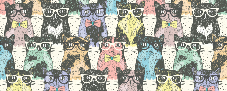 tips for new designers header - cats wearing glasses